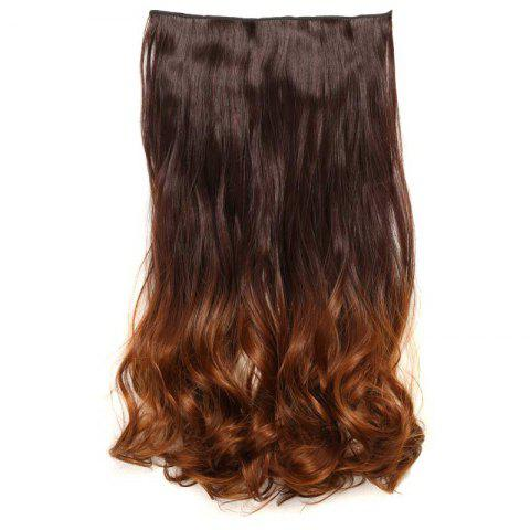 New 1Pc Wavy Medium Two Tone Clip In Hair Extensions