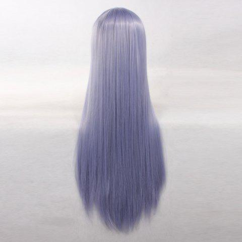 Online Ultra Long Side Bang Layered Glossy Straight Synthetic Naruto Cosplay Anime Wig - PURPLE  Mobile