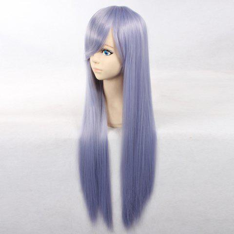 Outfit Ultra Long Side Bang Layered Glossy Straight Synthetic Naruto Cosplay Anime Wig - PURPLE  Mobile