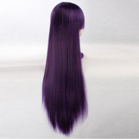 Best Ultra Long Side Bang Layered Glossy Straight Synthetic Naruto Cosplay Anime Wig - CONCORD  Mobile