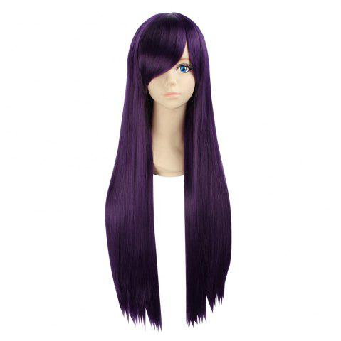 Hot Ultra Long Side Bang Layered Glossy Straight Synthetic Naruto Cosplay Anime Wig CONCORD