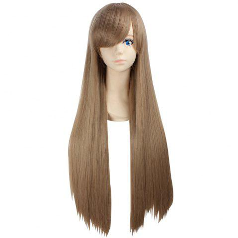 Side Bang Ultra Long Layered Glossy Straight Synthetic Naruto Cosplay Anime Wig Lin