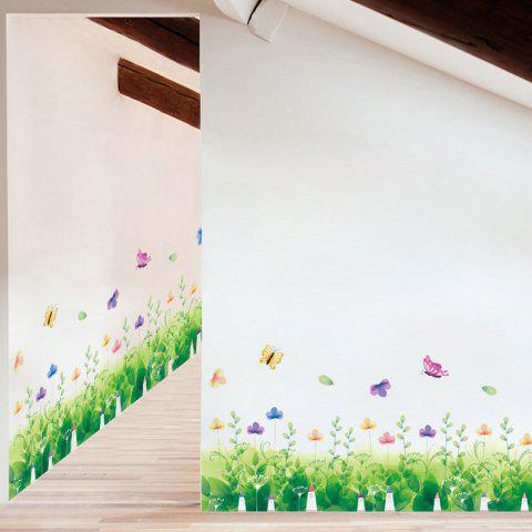 Chic Pastoral Removable Skirting Line Wall Sticker - 50*70CM GREEN Mobile