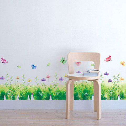 Outfit Pastoral Removable Skirting Line Wall Sticker - 50*70CM GREEN Mobile
