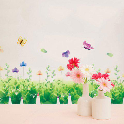 Cheap Pastoral Removable Skirting Line Wall Sticker - 50*70CM GREEN Mobile