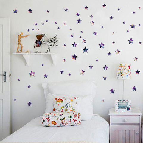 Outfit Removable DIY Star Vinyl Nursery Wall Sticker - 45*50CM PURPLE Mobile