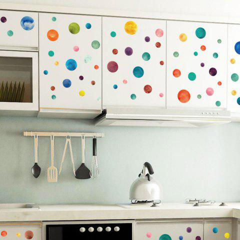 Online Vinyl Colorful Circle DIY Wall Sticker For Kids - 45*50CM COLORMIX Mobile