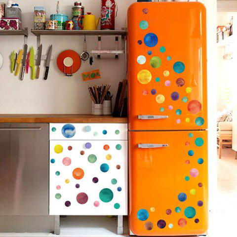 Store Vinyl Colorful Circle DIY Wall Sticker For Kids - 45*50CM COLORMIX Mobile