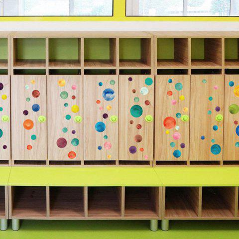 Outfit Vinyl Colorful Circle DIY Wall Sticker For Kids COLORMIX 45*50CM