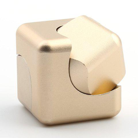 Outfits Stress Relief Alloy Cube Hand Spinner - GOLDEN  Mobile