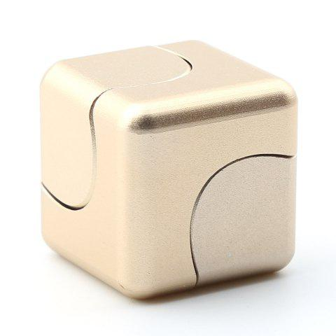 Store Stress Relief Alloy Cube Hand Spinner - GOLDEN  Mobile