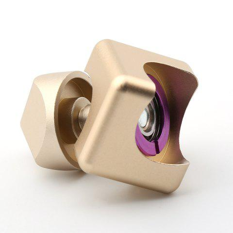 Unique Stress Relief Alloy Cube Hand Spinner - GOLDEN  Mobile