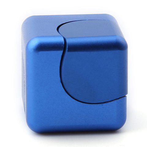 Store Stress Relief Alloy Cube Hand Spinner - BLUE  Mobile
