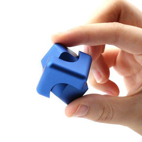 Outfits Stress Relief Alloy Cube Hand Spinner BLUE