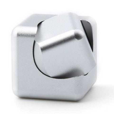 Discount Stress Relief Alloy Cube Hand Spinner - SILVER  Mobile