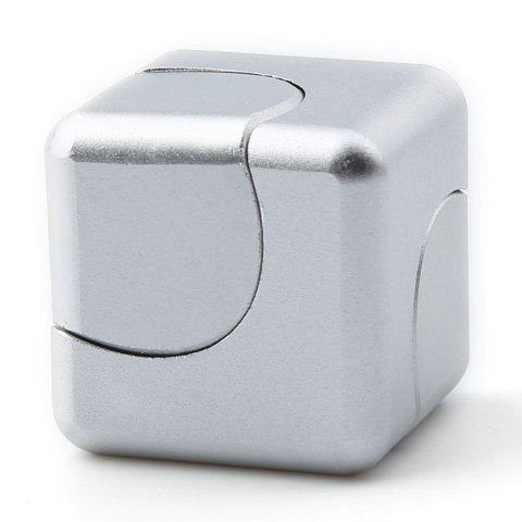 Unique Stress Relief Alloy Cube Hand Spinner - SILVER  Mobile