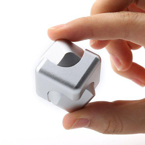 Store Stress Relief Alloy Cube Hand Spinner SILVER