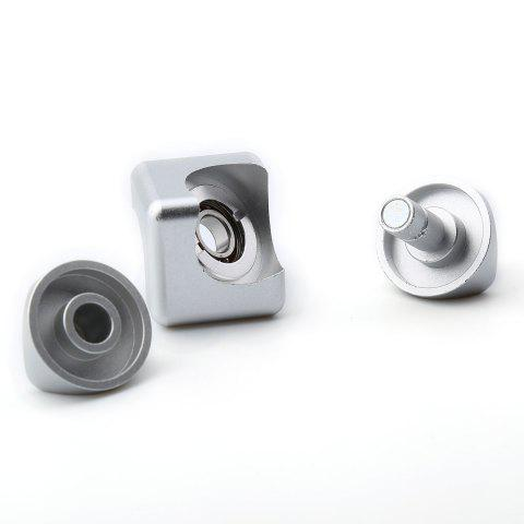 Affordable Stress Relief Alloy Cube Hand Spinner - SILVER  Mobile