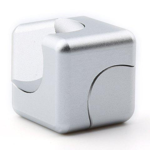 Buy Stress Relief Alloy Cube Hand Spinner - SILVER  Mobile