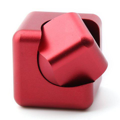 Discount Stress Relief Alloy Cube Hand Spinner - RED  Mobile