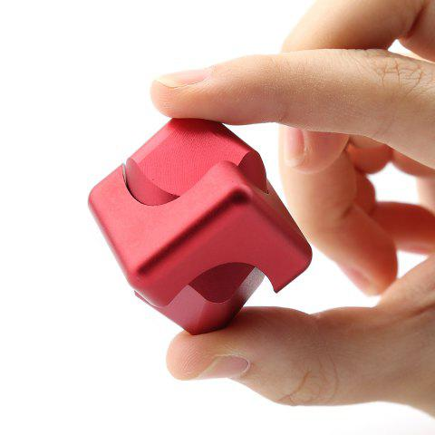 Buy Stress Relief Alloy Cube Hand Spinner RED