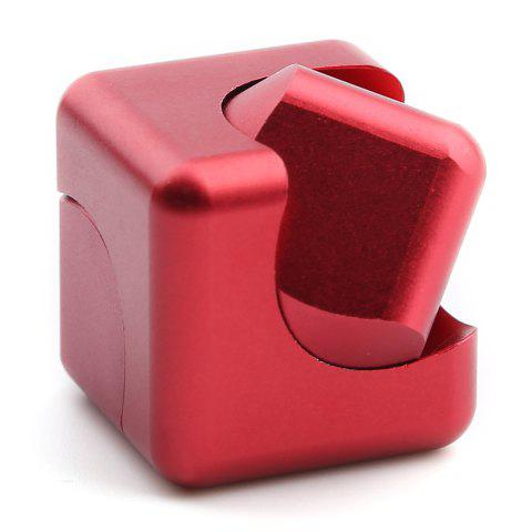 Online Stress Relief Alloy Cube Hand Spinner - RED  Mobile