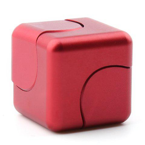 Affordable Stress Relief Alloy Cube Hand Spinner - RED  Mobile