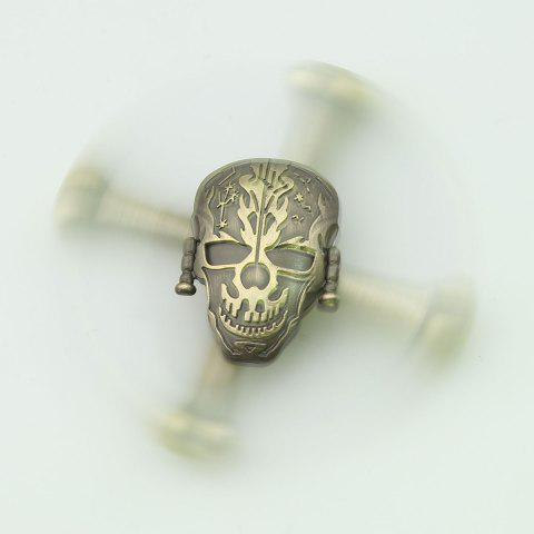 Cheap Finger Toy Skull Design EDC Metal Fidget Spinner - 7.5*7.5*1.5CM GINGER Mobile