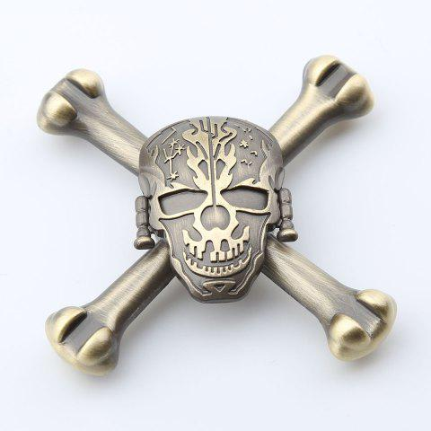 Online Finger Toy Skull Design EDC Metal Fidget Spinner - 7.5*7.5*1.5CM GINGER Mobile