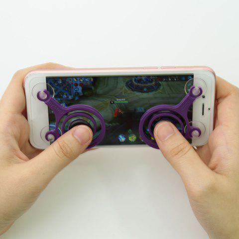 Outfits Gamepad Design Plastic Hand Plaything Spinner - 6.5*5*0.7CM PURPLE Mobile