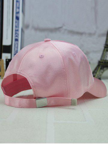 Store Long Tail Shimmer Adjustable Outdoor Baseball Hat - LIGHT PINK  Mobile