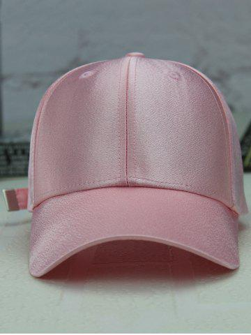New Long Tail Shimmer Adjustable Outdoor Baseball Hat - LIGHT PINK  Mobile