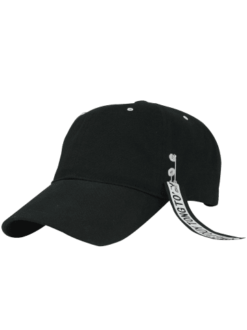 Best Letters Metal Circle Streamer Embellish Baseball Hat - BLACK  Mobile