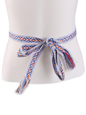 Latest Retro Ethnic Embroidery Woven Fringed Waist Strap