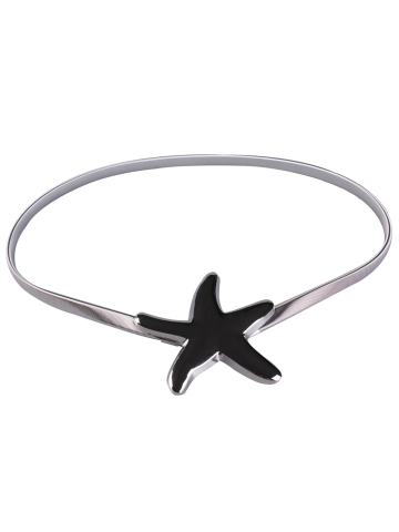 Affordable Plating Metallic Starfish Buckle Coat Belt - SILVER  Mobile