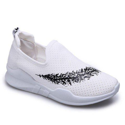 Cheap Breathable Leaf Printed Athletic Shoes