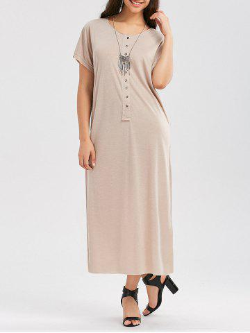 Hot Casual Button Up Maxi T Shirt Dress