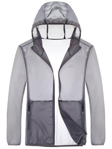 Affordable Zipper Up Hooded UV-Protection Wear