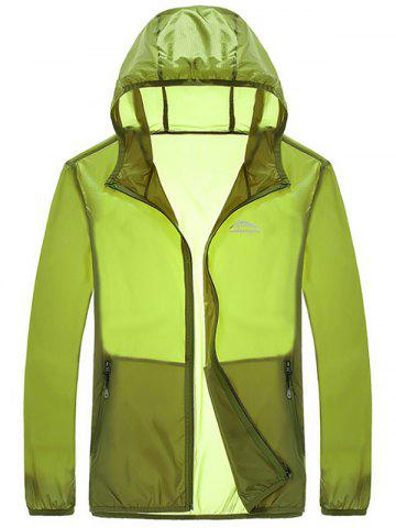 Unique Zipper Up Hooded UV-Protection Wear - 4XL GREEN Mobile