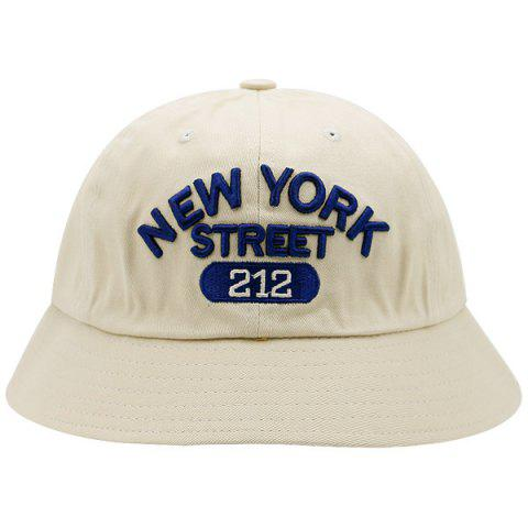 Shops Number Letters Embroidered Bucket Hat