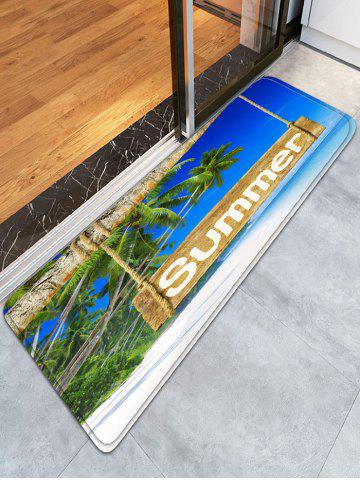 Store Tropical Summer Bathroom Flannel Skidproof Rug - W16 INCH * L47 INCH BLUE Mobile