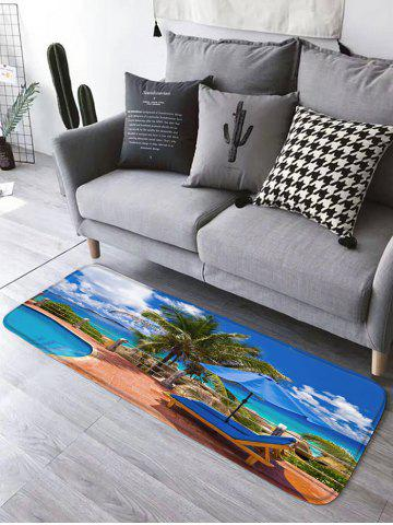 Best Swimming Pool Skidproof Flannel Beach Bath Rug - W16 INCH * L47 INCH BLUE Mobile