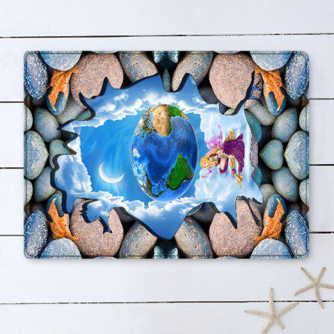 Chic 3D Stone Earth Pattern Flannel Water Absorption Area Rug - W16 INCH * L24 INCH COLORMIX Mobile