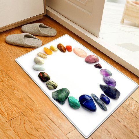 Affordable Gem Stone Pattern Flannel Water Absorption Area Rug - W16 INCH * L24 INCH COLORMIX Mobile