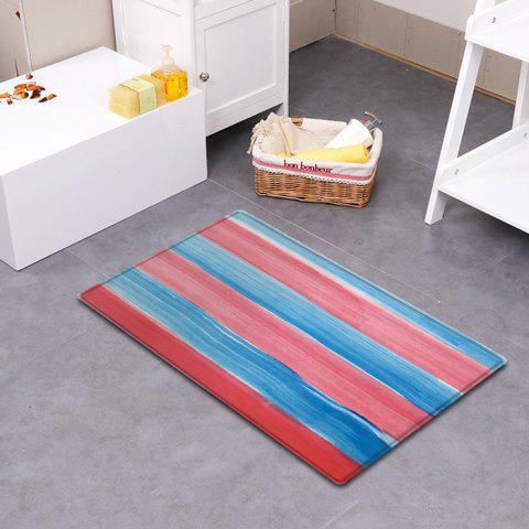 Chic Striped Pattern Water Absorption Indoor Outdoor Area Rug - W16 INCH * L24 INCH COLORMIX Mobile
