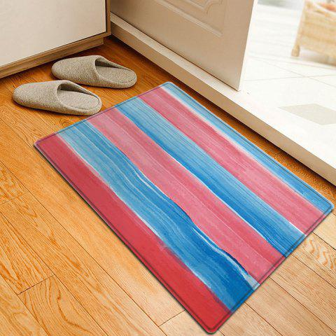 Sale Striped Pattern Water Absorption Indoor Outdoor Area Rug - W16 INCH * L24 INCH COLORMIX Mobile
