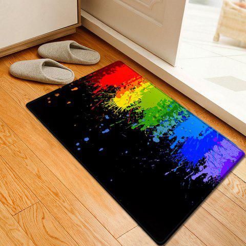 Fancy Paint Splatter Pattern Water Absorption Flannel Area Rug - W16 INCH * L24 INCH COLORMIX Mobile