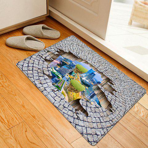 Chic City In The Stone Floor 3D Pattern Water Absorption Flannel Area Rug - W16 INCH * L24 INCH COLORMIX Mobile