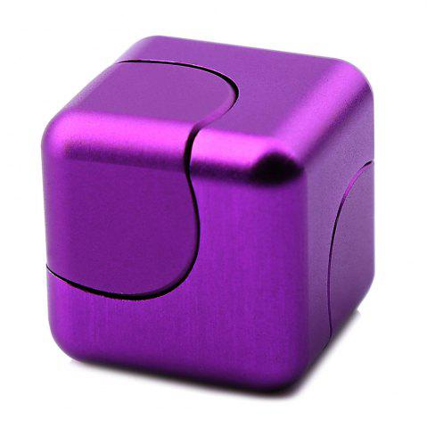 Store Stress Relief Toy Novelty Magic Cube Alloy Fidget Spinner - PURPLE  Mobile