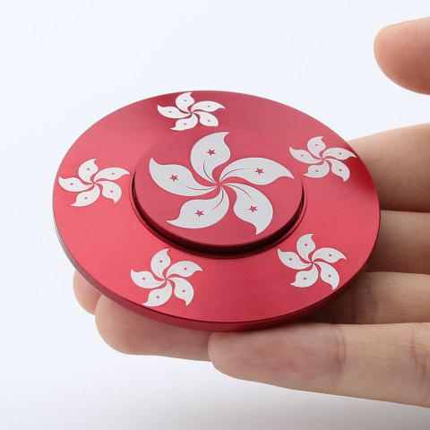Buy Bauhinia Fidget Toy Hand Spinner Relaxation Gift RED 6*6*1.2CM